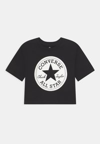 Converse - SIGNATURE CHUCK PATCH BOXY  - Triko spotiskem - black - 0