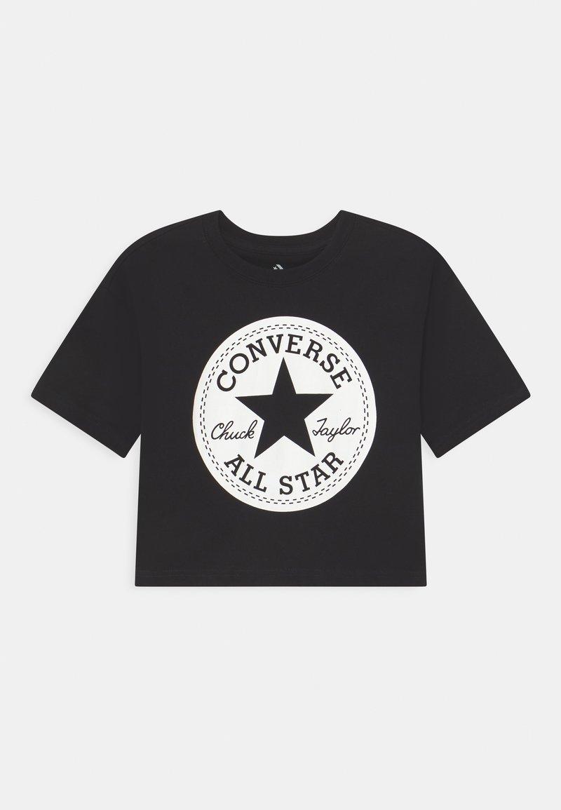 Converse - SIGNATURE CHUCK PATCH BOXY  - Triko spotiskem - black
