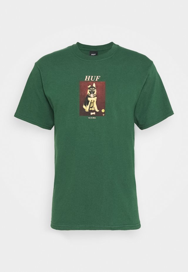 GOOD BOY TEE - Camiseta estampada - forest green