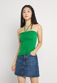 Gina Tricot - FLORENS SINGLET - Top - medium green - 0