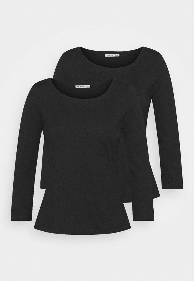 2 PACK - Maglietta a manica lunga - black