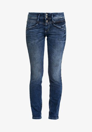 ALEXA - Slim fit jeans - random bleached/ blue denim