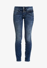 ALEXA - Slim fit jeans - random bleached/blue denim