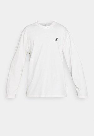 HARLEM LONG SLEEVE TEE - Bluzka z długim rękawem - white