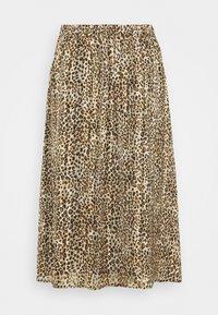 Kaffe Curve - KCLANANA SKIRT - Maxi skirt - brown/gold - 1