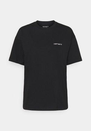 SCRIPT EMBROIDERY - Print T-shirt - black/white