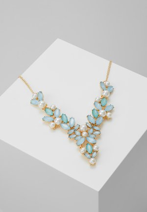 PCLINNEA STONE NECKLACE - Halskæder - gold coloured/blue