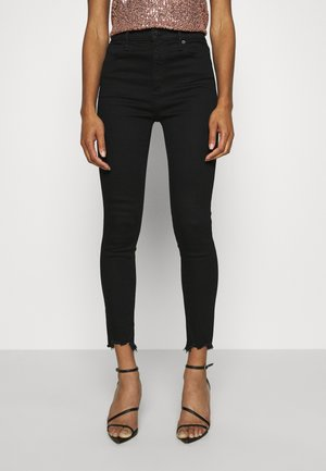 HIGH RISE ANKLE - Skinny džíny - black