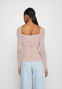 NA-KD - SQUARE NECK - Long sleeved top - beige - 2