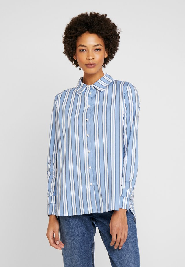 GRETA - Button-down blouse - blue