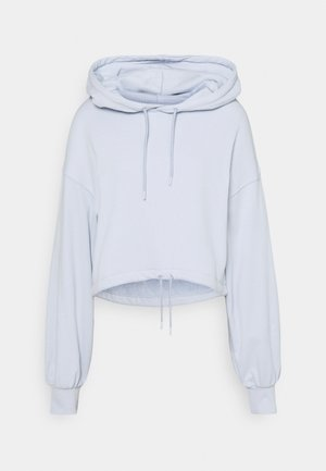 DRAWSTRING CROPPED HOODIE - Felpa con cappuccio - light blue