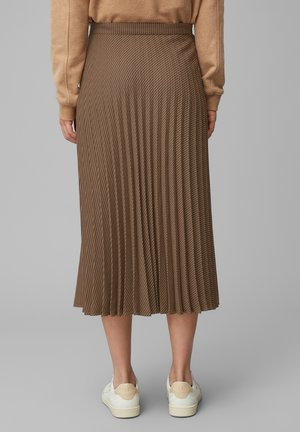 Pleated skirt - multi/dark cocoa