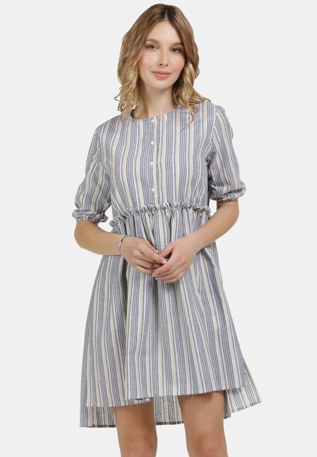 Sukienka letnia - blau weiss gestreift