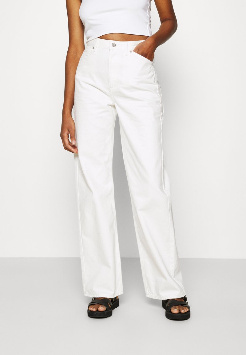 NA-KD - WIDE LEG - Relaxed fit jeans - ecru