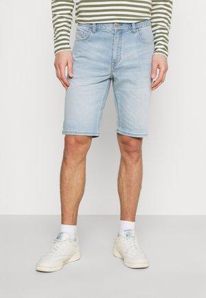 5 POCKET TAPERED FIT LOW WAIST LOW CROTCH TAPE - Denim shorts - light cobalt blue