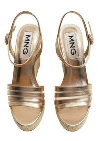 Mango - GIRL - High heeled sandals - oro - 3