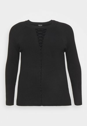 JUMPER CRISS CROSS - Jumper - black