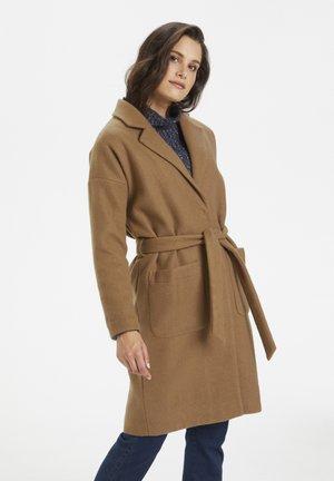 Płaszcz wełniany /Płaszcz klasyczny - woodsmoke