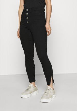 NMCALLIE HW BUTTON JEANS  - Jeans Skinny Fit - black