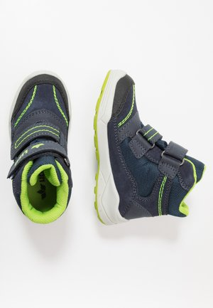 LEVANO - Classic ankle boots - marine/lemon