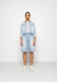 JUST FEMALE - BAY BERMUDA - Denim shorts - light waterblue - 1