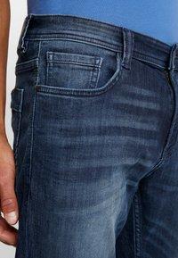 TOM TAILOR - MARVIN - Straight leg jeans - dark stone wash denim blue - 3