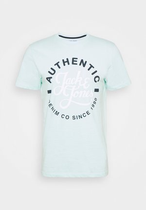 JJMOON TEE CREW NECK - Camiseta estampada - bleached aqua
