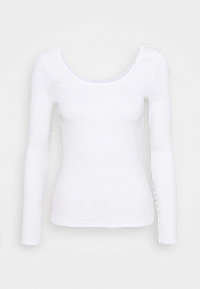 Bluzka z długim rękawem - cream