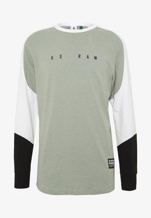 BASEBALL R T L\S - Top sdlouhým rukávem - olive/white/black