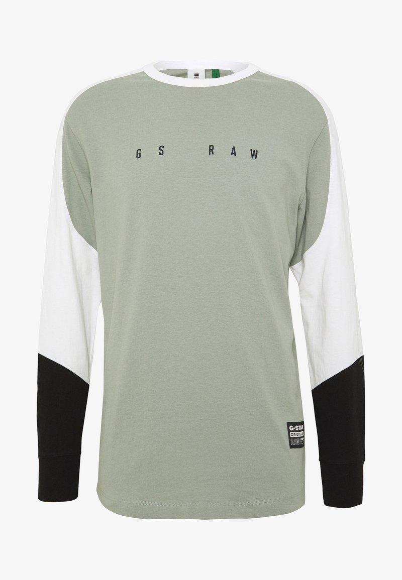 G-Star - BASEBALL R T L\S - Long sleeved top - olive/white/black