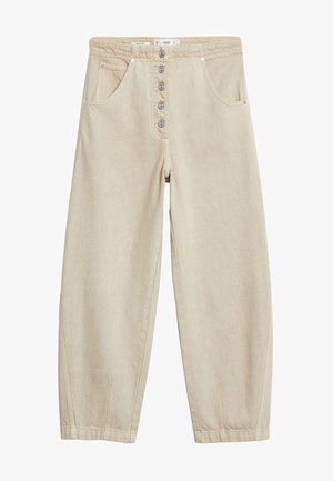 BUTTONS - Straight leg jeans - beige