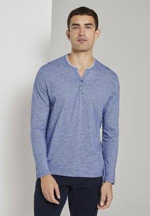 SERAFINO  - Long sleeved top - blue thin stripe