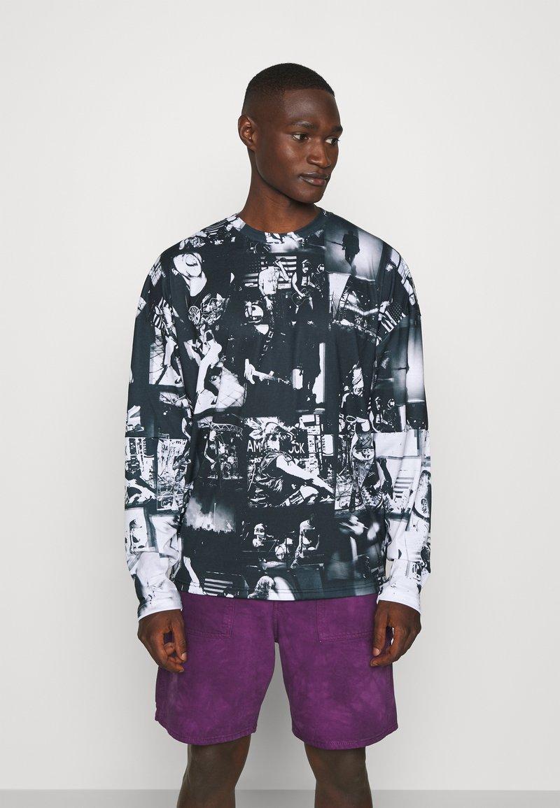 Jaded London - INVERTED PUNK ROCK COLLAGE TEE - Long sleeved top - black
