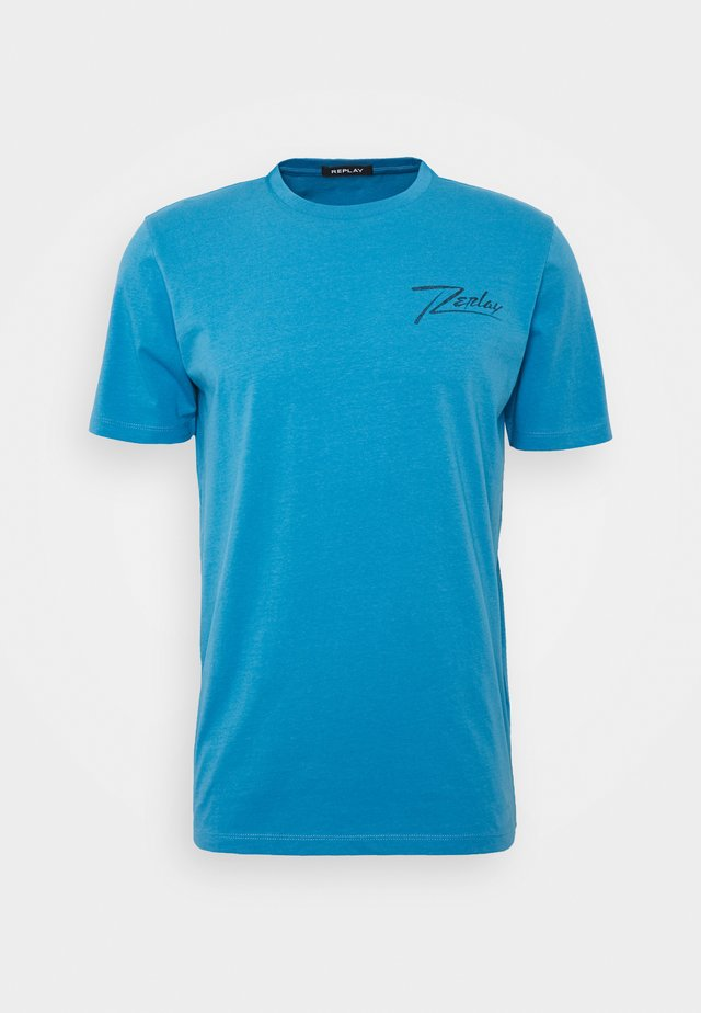 Print T-shirt - azure