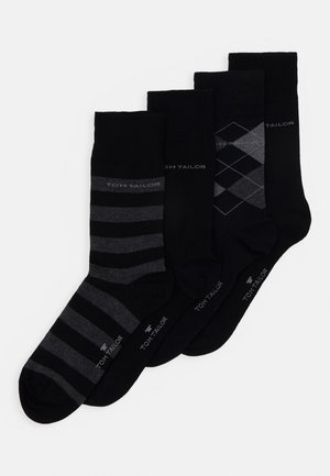 SOCKS GRAPHICS 4 PACK - Strumpor - black