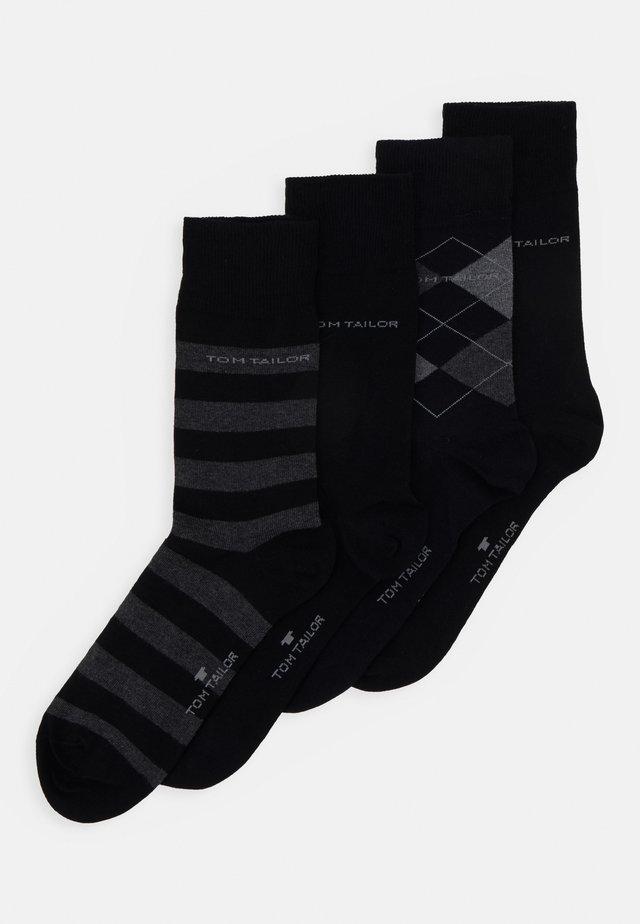 SOCKS GRAPHICS 4 PACK - Socks - black
