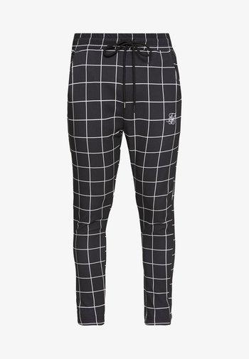 SMART JOGGER PANT - Trousers - black/white
