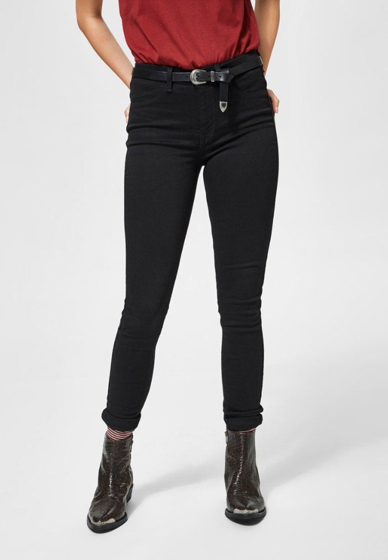 Damen SFGAIA JEGGING - Jeans Skinny Fit - black