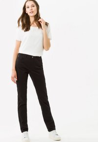 BRAX - STYLE CAROLA - Straight leg jeans - black - 1