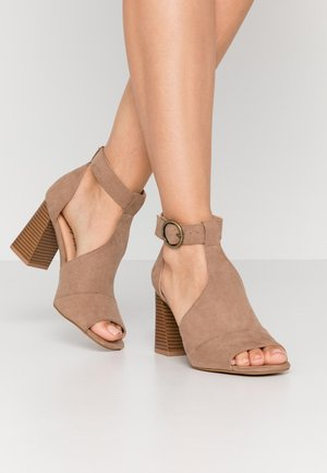 WIDE FIT PHOENIX - High heeled sandals - sand