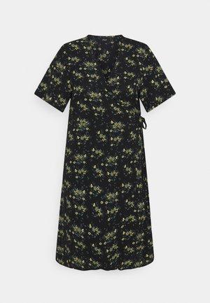 CAANNI WRAP KNEE DRESS - Kjole - black yellow