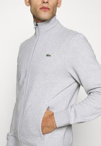 Lacoste Sport - CLASSIC JACKET - Zip-up hoodie - silver chine/elephant grey - 6