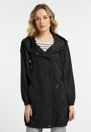 CUPRO - Manteau court - black