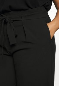 ONLY Carmakoma - CARICOLE CULOTTE WIDE PANTS - Trousers - black - 4