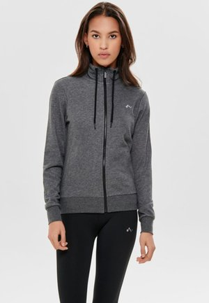 ONPELINA HIGH NECK - Zip-up hoodie - dark grey melange