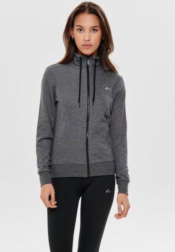 ONPELINA HIGH NECK - Zip-up sweatshirt - dark grey melange