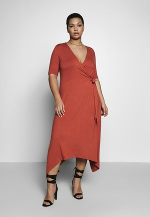 CARDRY LIFE WRAP DRESS - Maxi šaty - hot sauce
