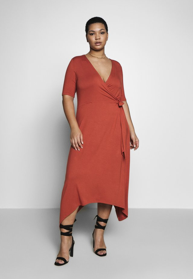 CARDRY LIFE WRAP DRESS - Długa sukienka - hot sauce