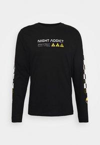 Night Addict - UNISEX RILEY - Pitkähihainen paita - black - 0
