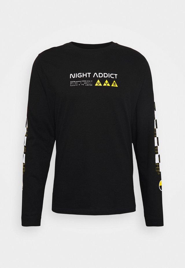 UNISEX RILEY - Pitkähihainen paita - black